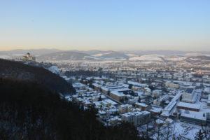 Zimný pohľad zo Štefánikovej vyhliadky