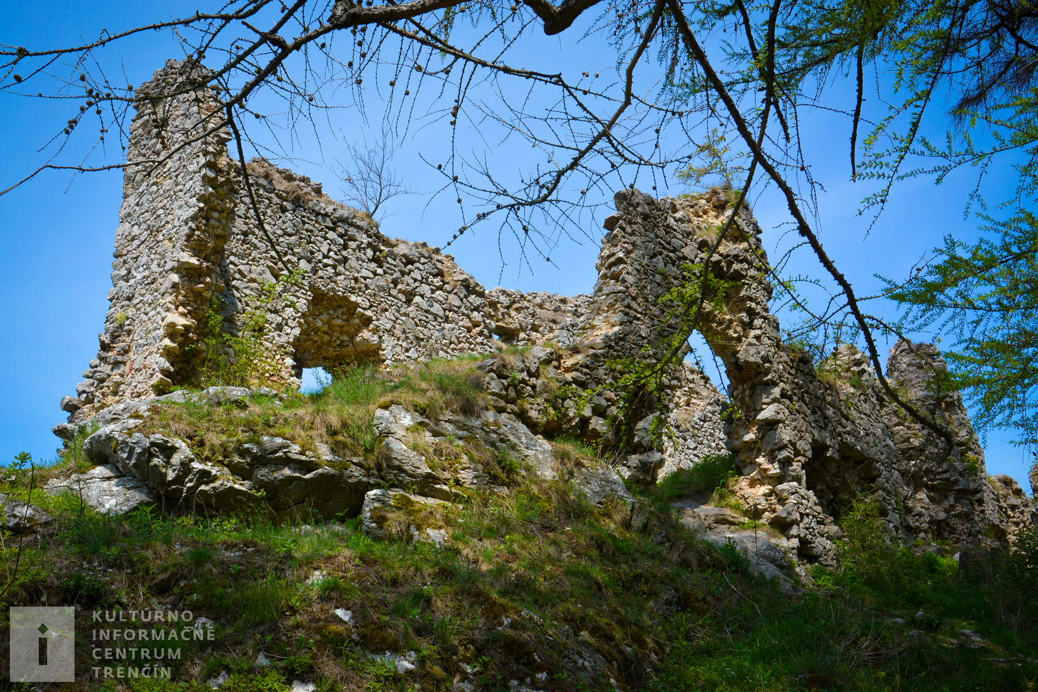 Ruiny hradu Vršatec/Vršatec Castle ruins