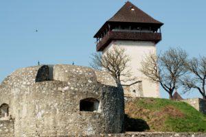 Pohľad na Trenčiansky hrad od Čerešňového sadu (z južnej strany). Foto: Mariana Ďurišová