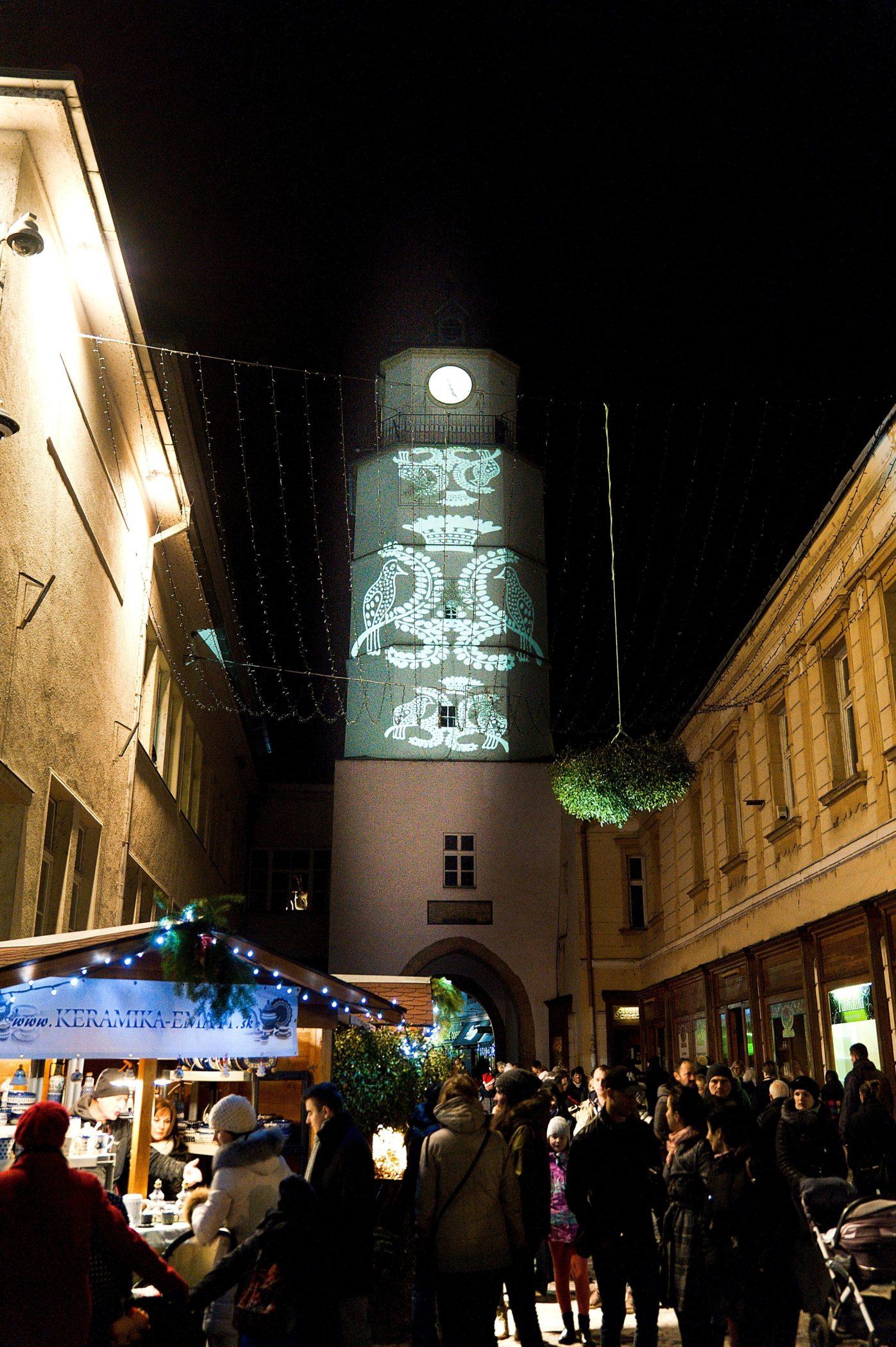 Vyšívaná Mestská veža
