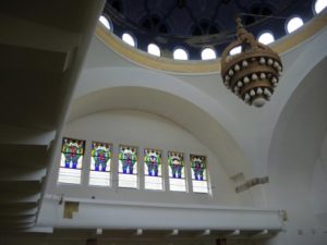 Vitráže v trenčianskej synagóge