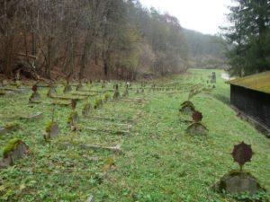 Pôvodný stav vojenského cintorína v roku 2014 pred začiatkom jeho obnovy. Foto: P. Honzek.