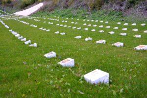 Obnovené hroby na vojenskom cintoríne.