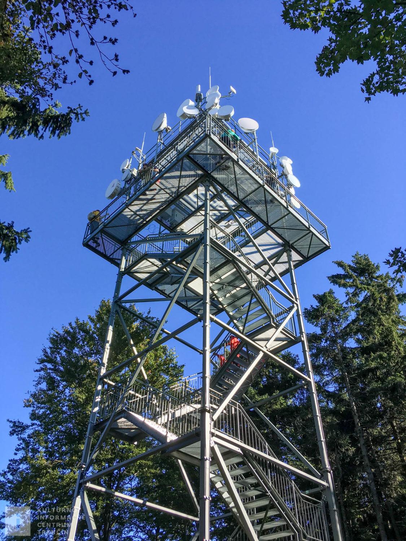 Rozhľadňa na Inovci/Lookout tower on the top of Inovec