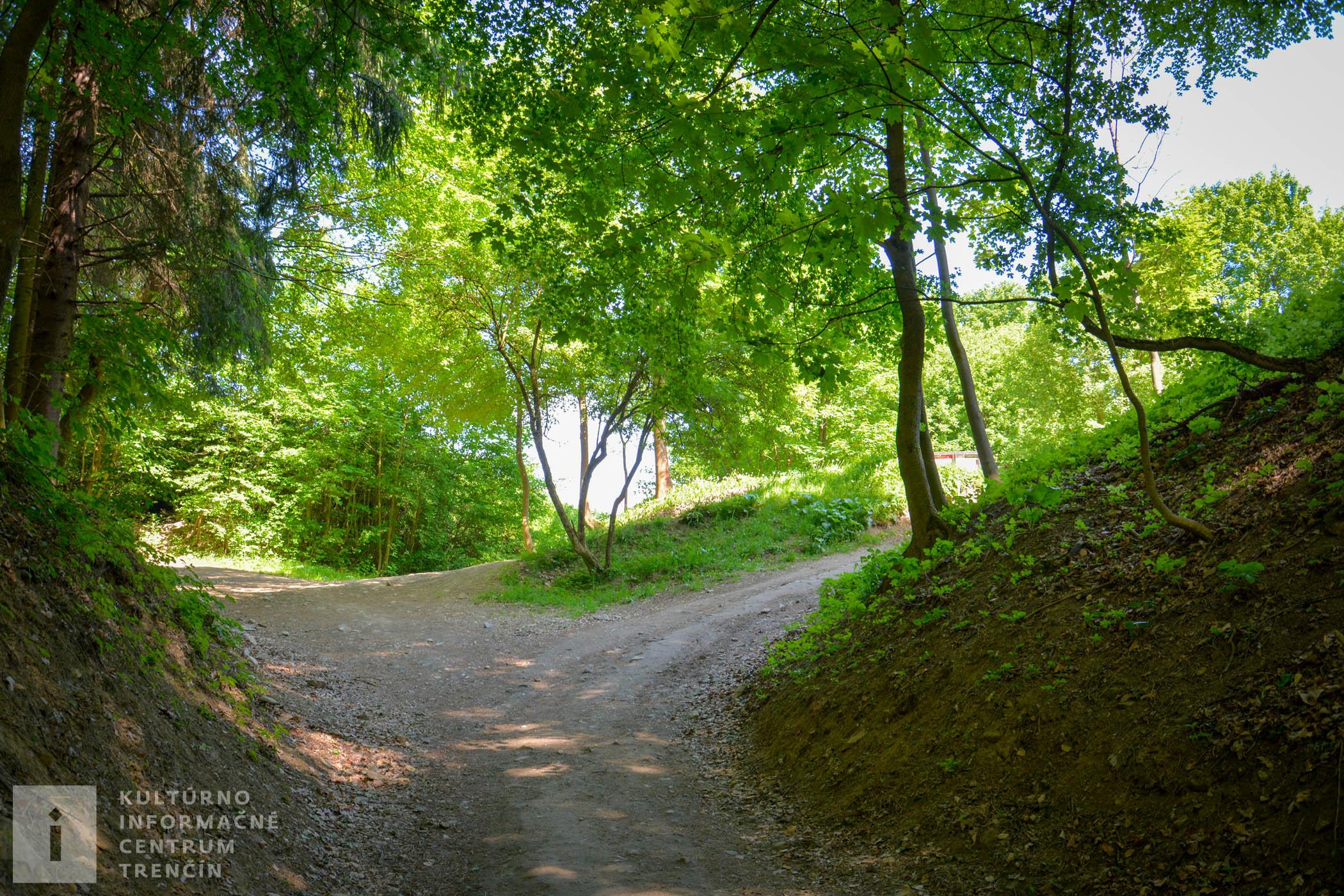 Cesta od kostola k hradu trvá asi 20 minút pešo, prevažne cez les, na konci trasy je strmšie stúpanie.