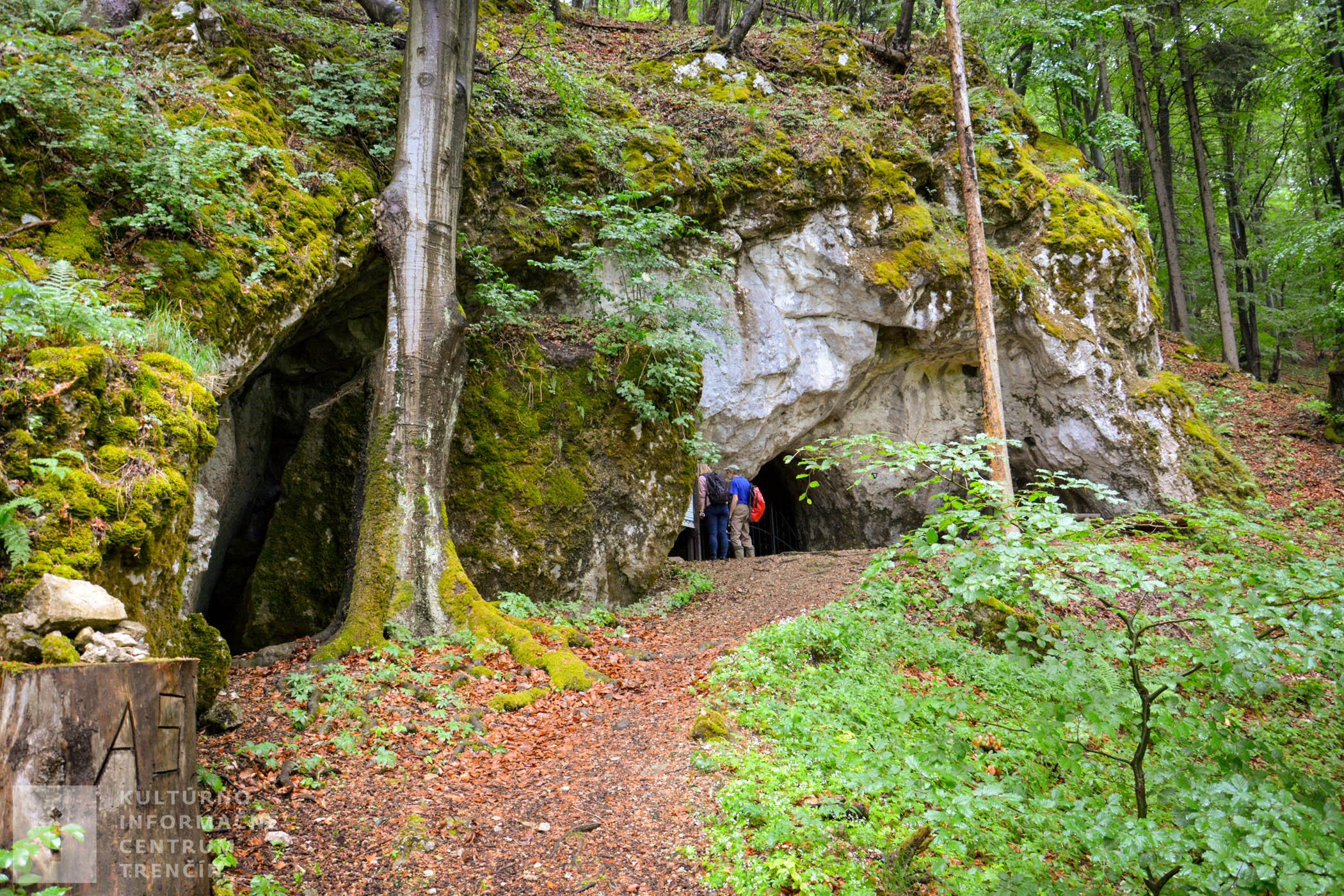 Vstup do Pružinskej Dupnej jaskyne.