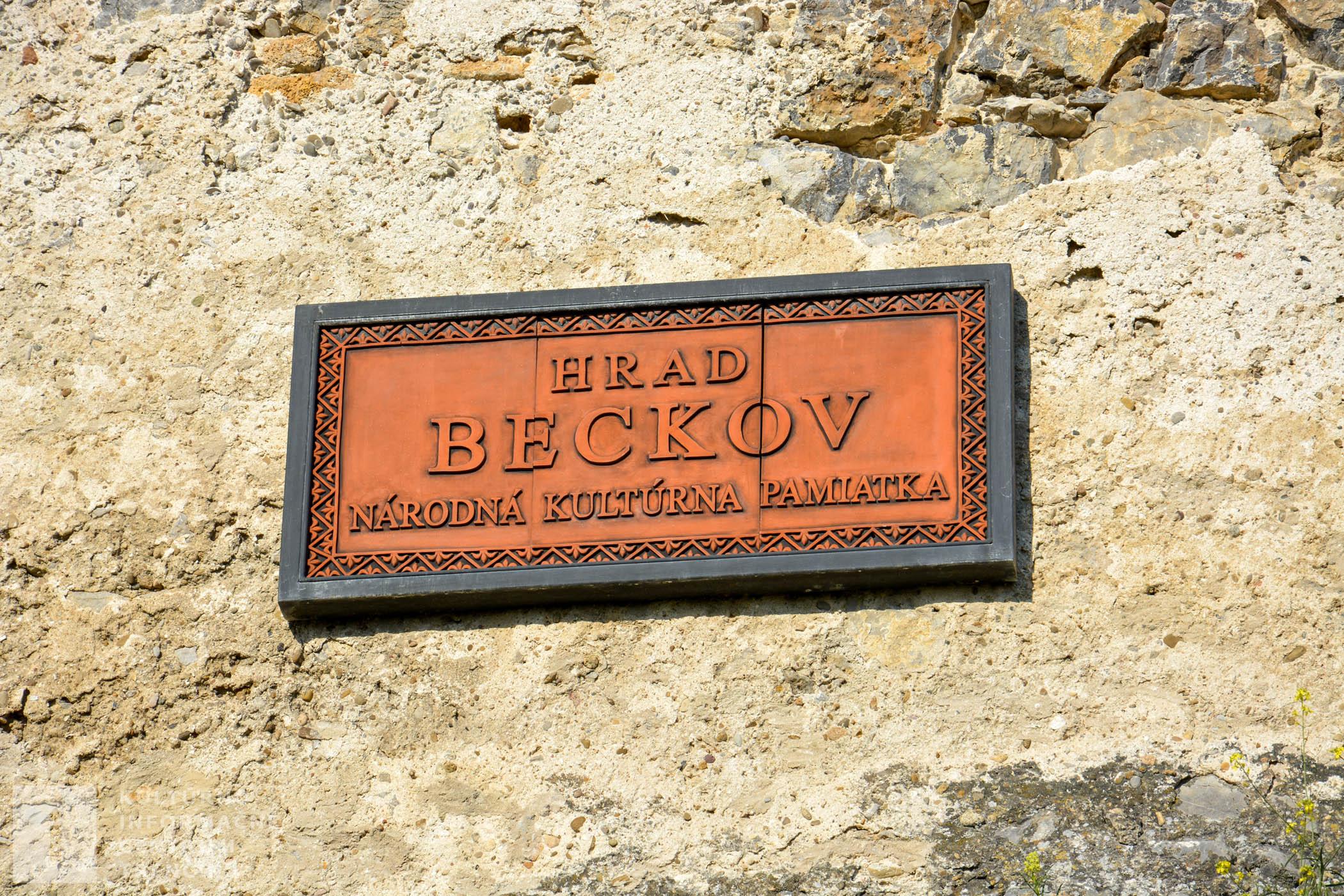 Hrad Beckov - národná kultúrna pamiatka
