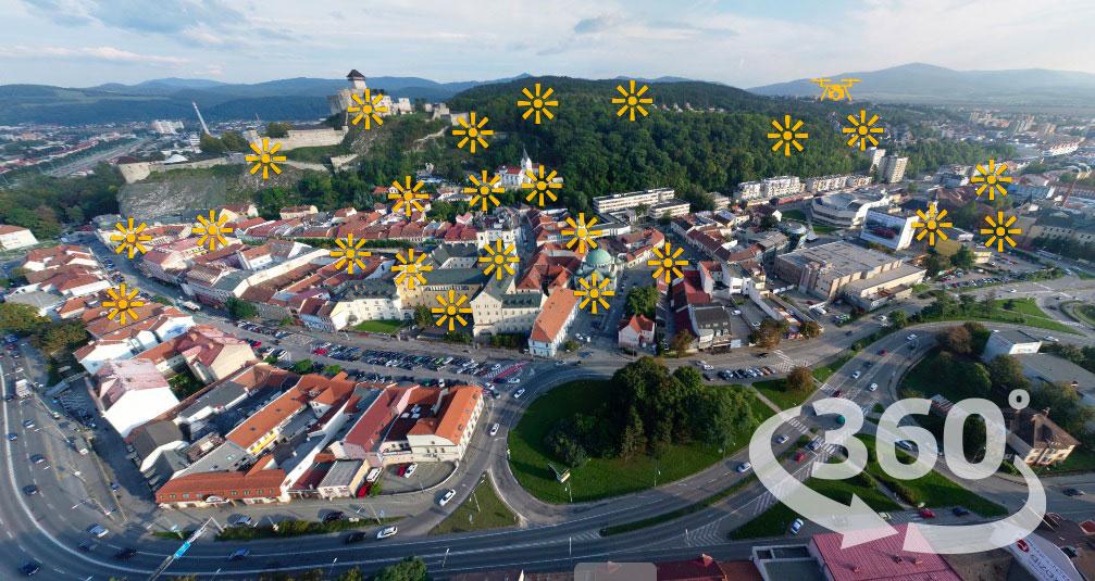 Panorama centrum mesta 360*°