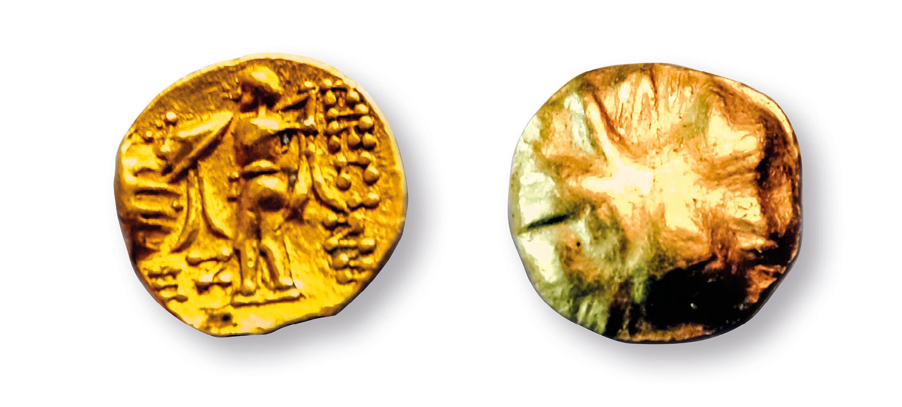Zlatá kelstká minca Athena Alkis sa našla na dolnom nádvorí Trenčianskeho hradu