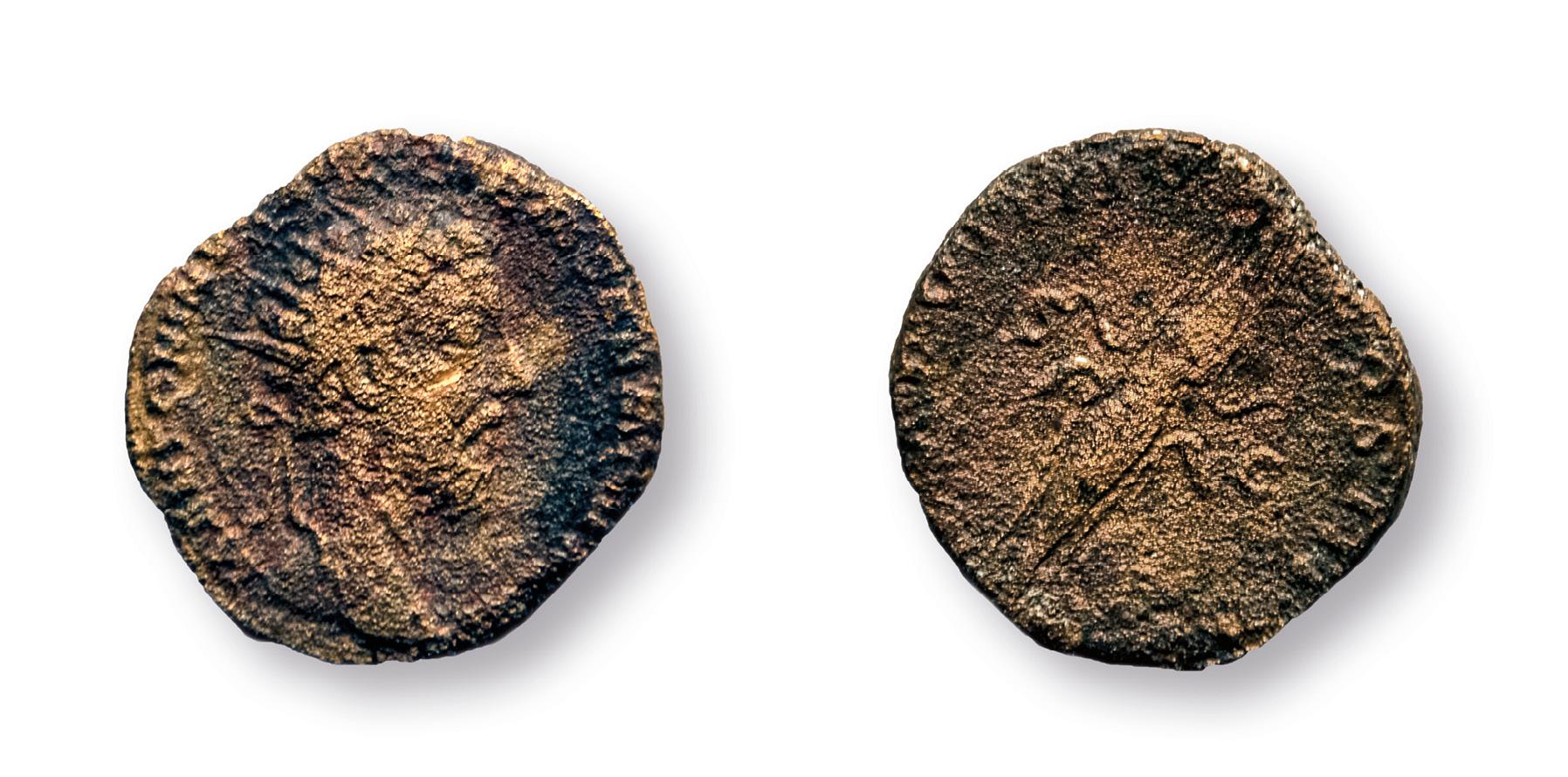 Bronzová minca cisára Marka Aurélia