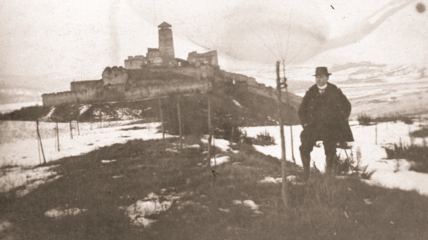 Zimný záber okolo roku 1913
