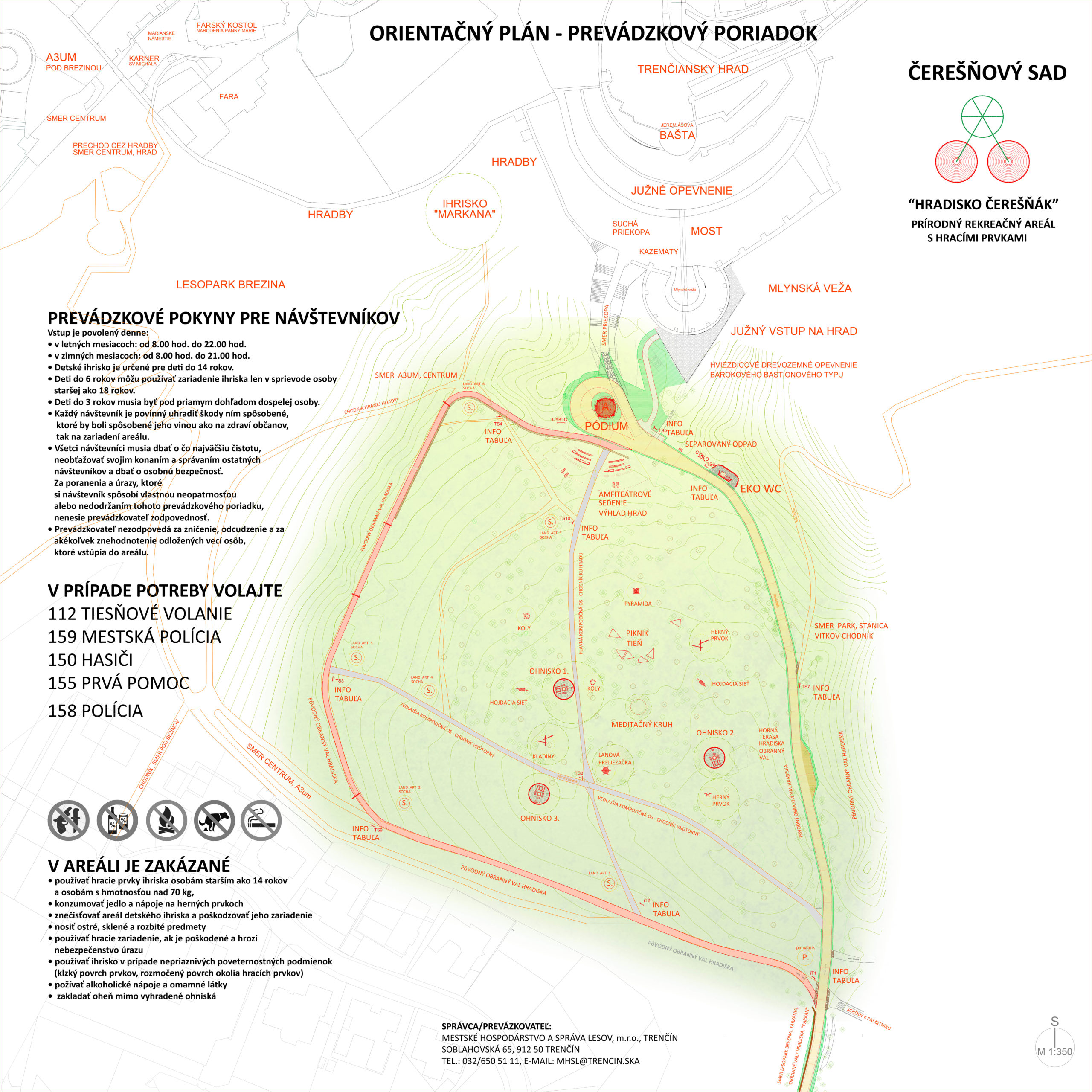 Mapa Čerešňového sadu