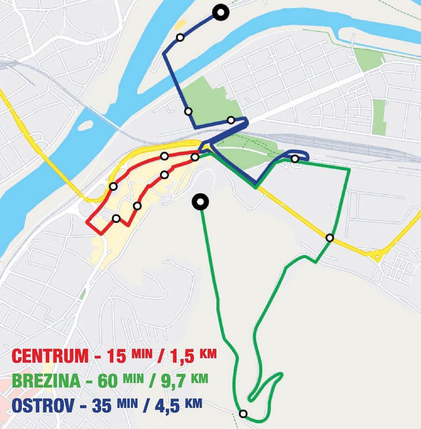 Vlak Matus Cak - mapa