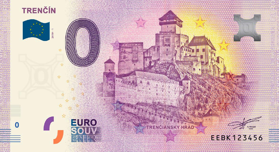 eurobankovka Trenciansky hrad